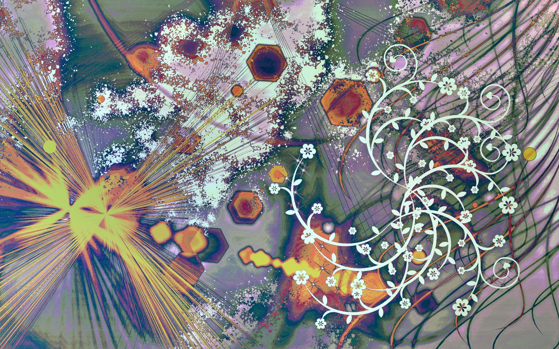 абстрактные обои hd природа